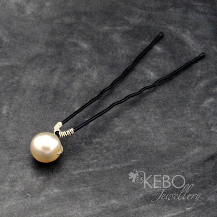 Elegance Hairpin - Made to Order-kebo, jewellery, hairpin, swarovski, pearl, bespoke, handmade, surrey, bride, bridal, bridesmaid