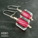Raspberry Ripple  Earrings
