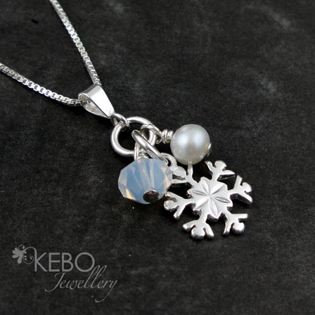 Snowflake Necklace - Made to Order